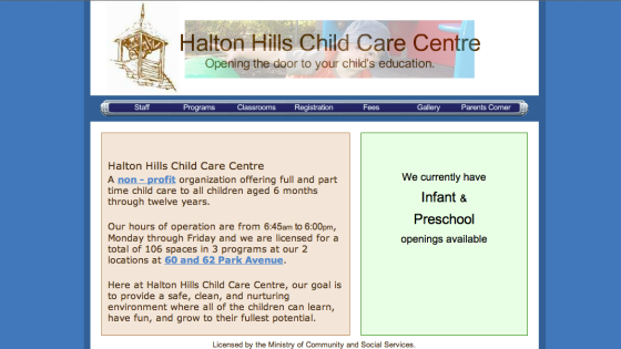 Halton Hills Child Care Centre